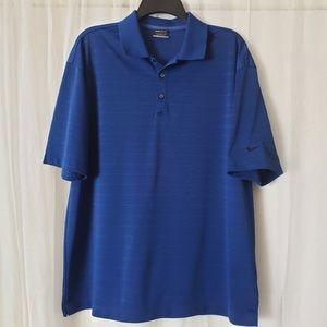 Nike Golf Men's Golf Polo Shirt Dri-Fit Size Large